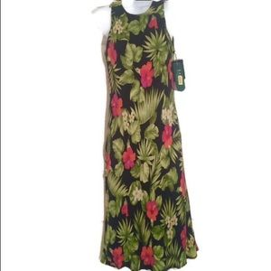Ralph Lauren tropical maxi 💯%silk NWT 6P